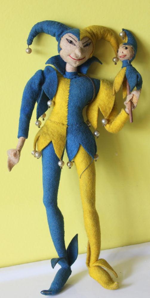 BOUFFON Arlequin ancien (JESTER or JOKER) 1930 Jeux / jouets