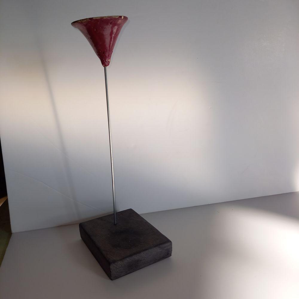 Bougeoir décoratif et artisanal en terre et pierre           25 Saumur (49)