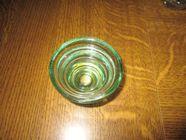 Bougeoir vert transparent en verre - pas un éclat 0 Mérignies (59)