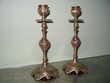 Bougeoirs anciens en bronze