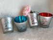 Lot de 4 bougeoirs bleu et rouge - NEUF - et 4 bougies offer Décoration