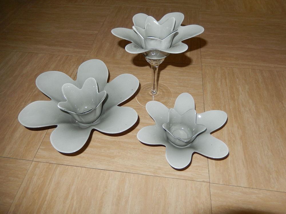 3 Bougeoirs fleurs 30 Saint-André-lez-Lille (59)