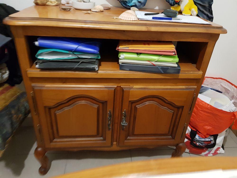 lit en bouleau miel meuble tv 400 Marcorignan (11)
