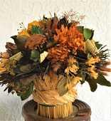 Bouquet de fleurs séchées. 30 Vourles (69)