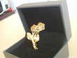 Bouquet de roses broche dorée or fin N° 733 Bijoux et montres