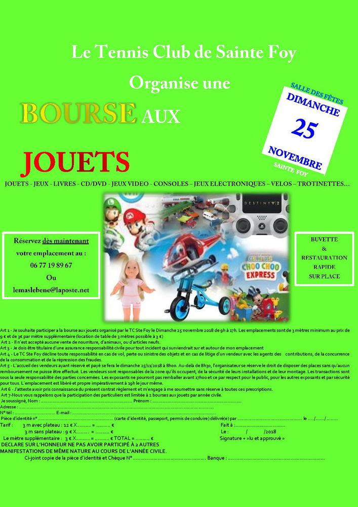 BOURSE AUX JOUETS 0 Sainte-Foy (85)