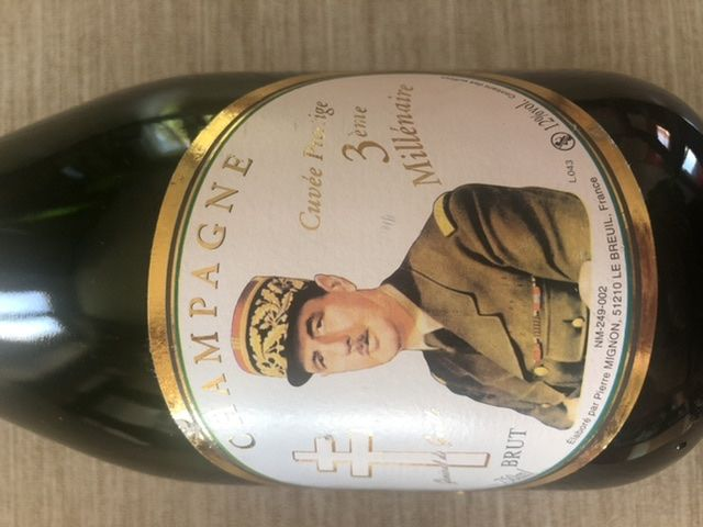 Bouteille de champagne Général De Gaulle