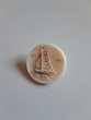 Bouton en porcelaine motif bateau
