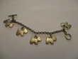 bracelet avec motifs des petits chien longueur totale 18 cm
