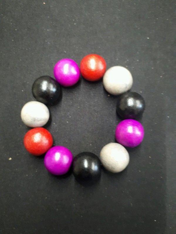bracelet en bois boules noir 1 La Ferté-sous-Jouarre (77)