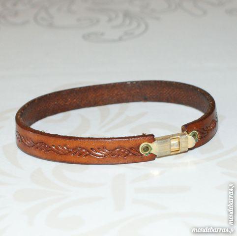 Bracelet en cuir véritable 5 Cabestany (66)