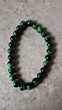 bracelet double élastique avec pierre oeil  de chat Vert