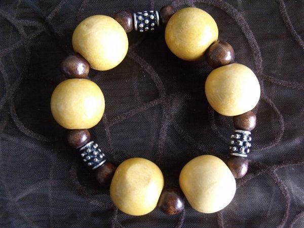 Bracelet fantaisie bois 3 Lesquin (59)