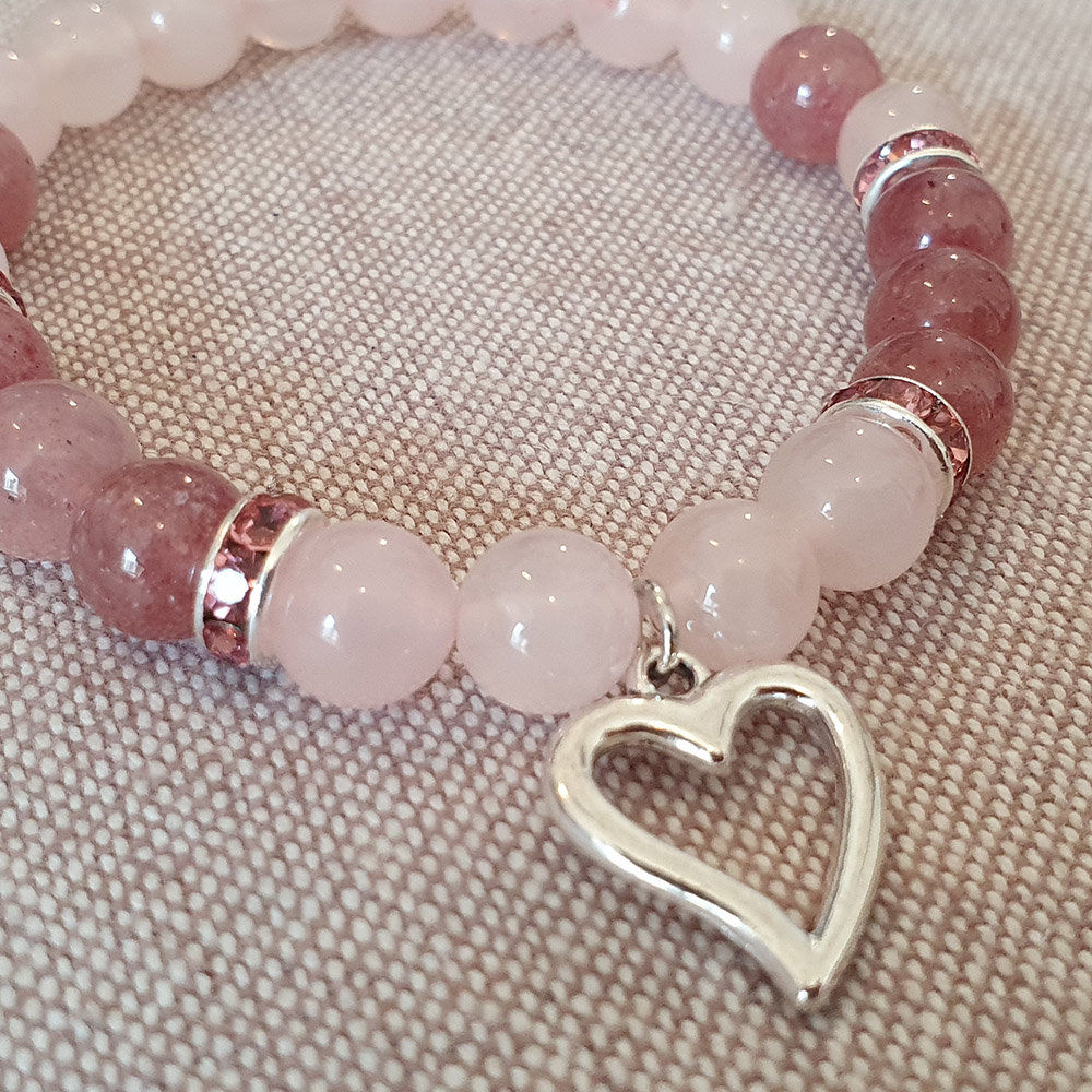Bracelet femme quartz rose & quartz fraise 15 Grisy-Suisnes (77)