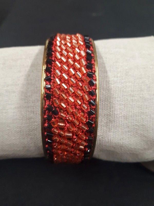 bracelet jonc rouge Bijoux et montres