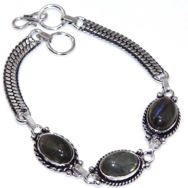 Bracelet LABRADORITE, Plaqué argent 925 14 Saint-Savin (86)