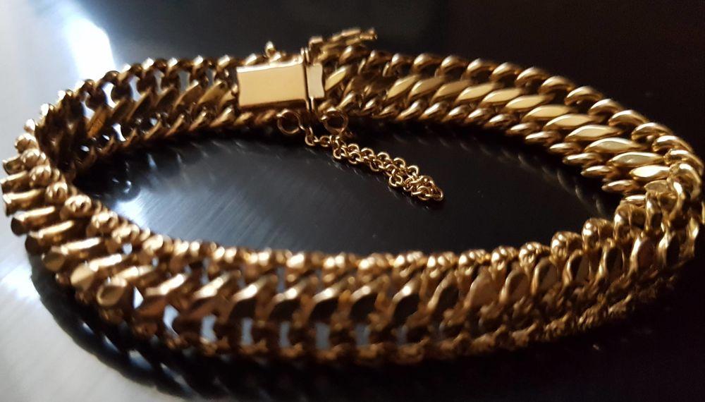 Bracelet OR maille gourmette américaine 1200 Marignane (13)