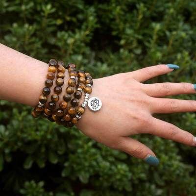 Bracelet Mala pierre Oeil de Tigre. 25 Grisy-Suisnes (77)
