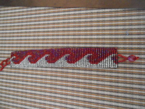 bracelet manchette rouge Bijoux et montres