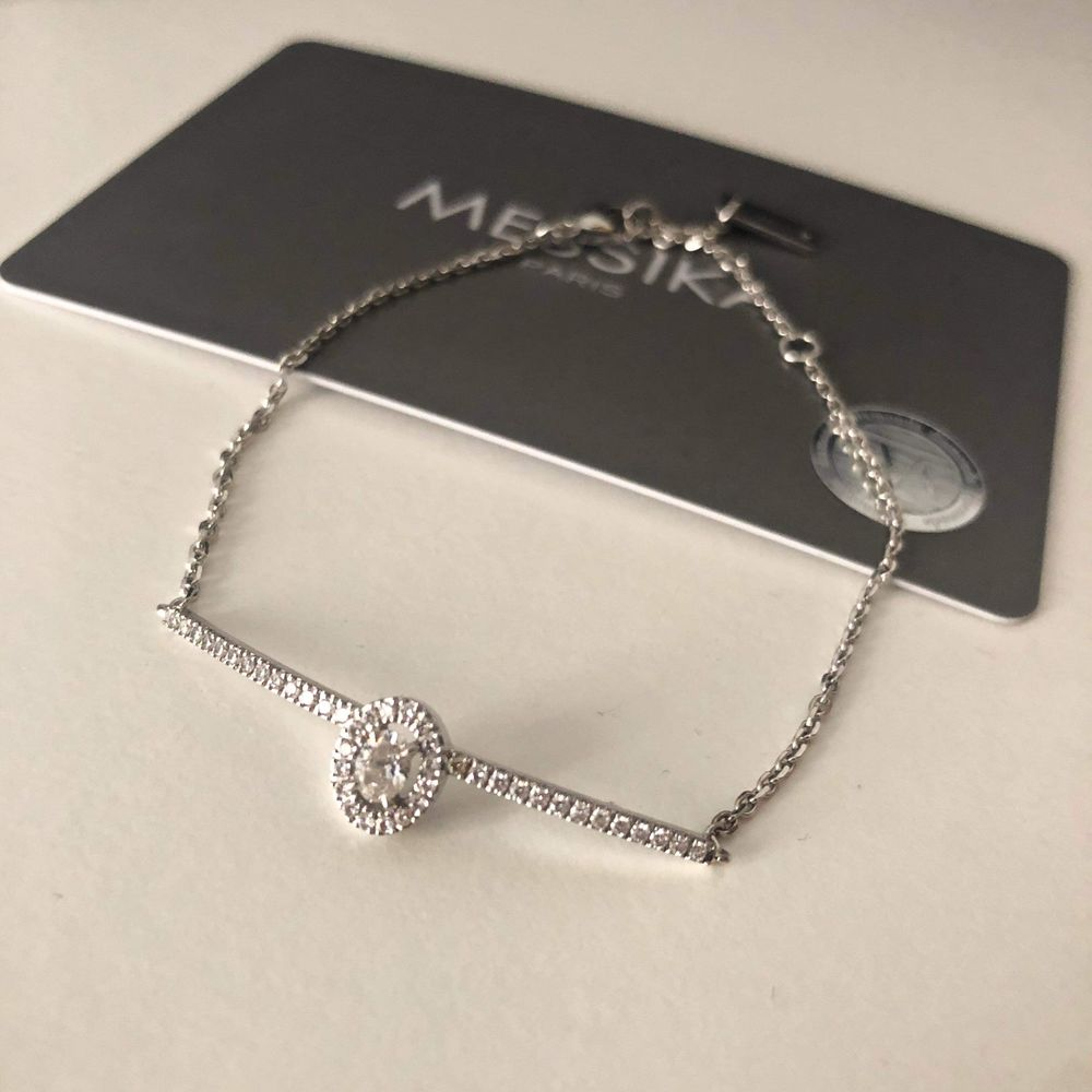 Bracelet Messika  Glam'azone  or blanc et diamant  1800 Toulon (83)