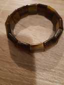 Bracelet oeil de tigre pierre plate 0 La Réunion (97)