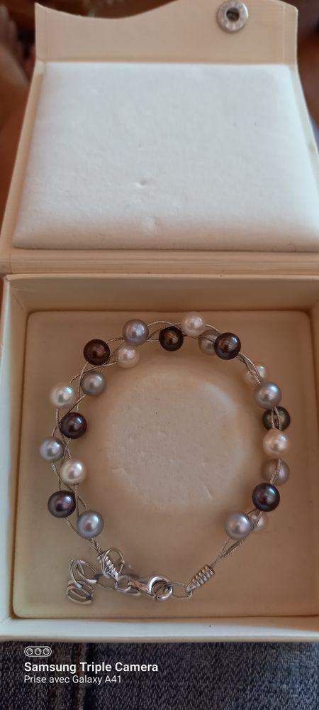 Bracelet perle de culture  Dim min 15cm max 19cm 0 Antibes (06)