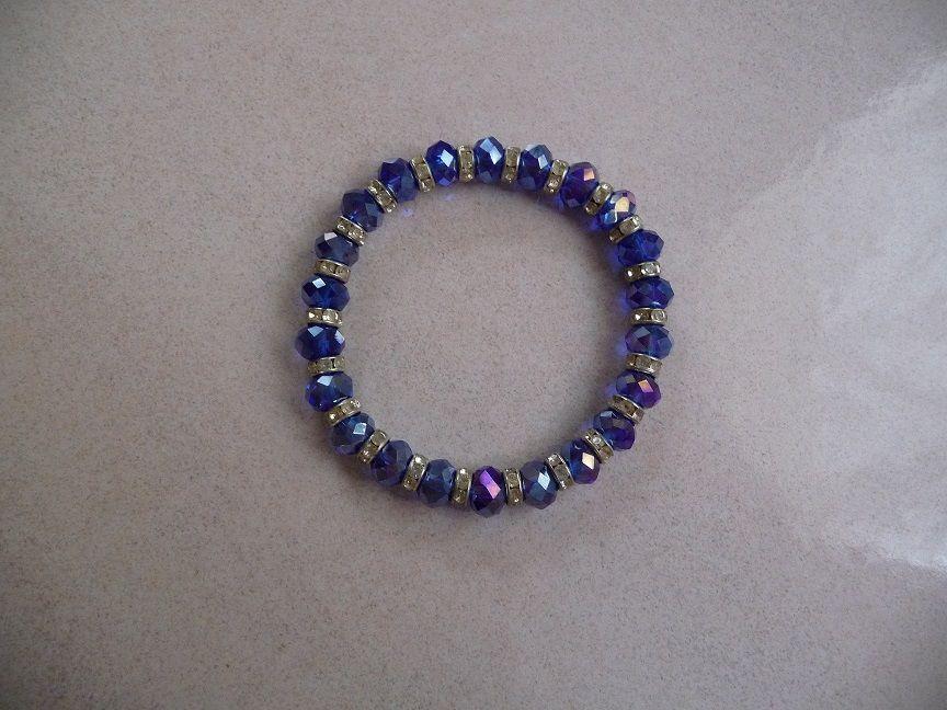 Bracelet perles bleues SWAROVSKI & strass-N E U F  20 Montigny-le-Bretonneux (78)
