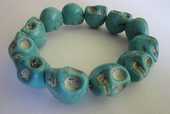 Bracelet en Pierres / Turquoises / Tête de Mort 18 Nîmes (30)