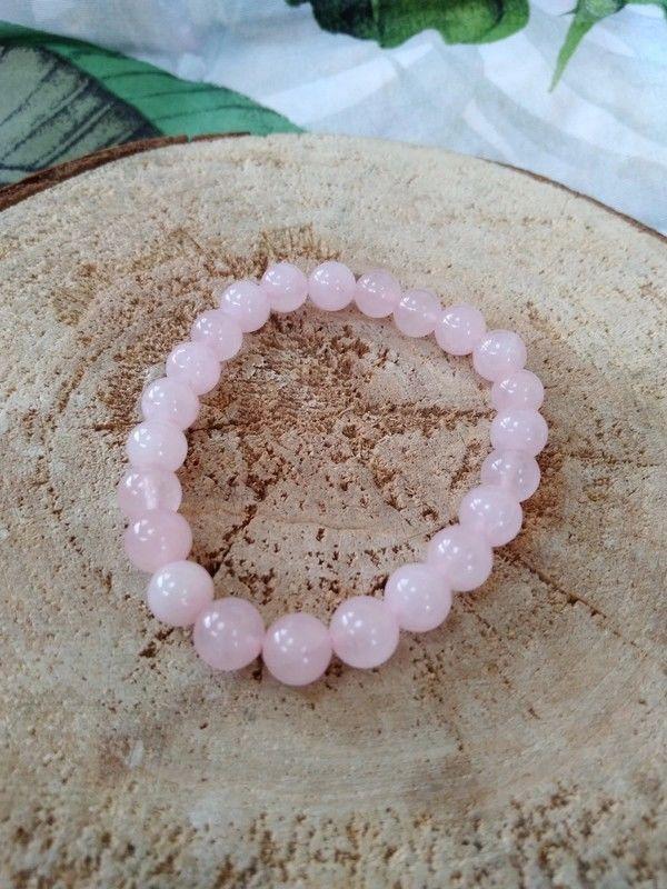 Bracelet en quartz rose pierres 8mm 5 Saverne (67)