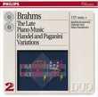 CD     Brahms, Haendel, Paganini,       The Late Piano Music