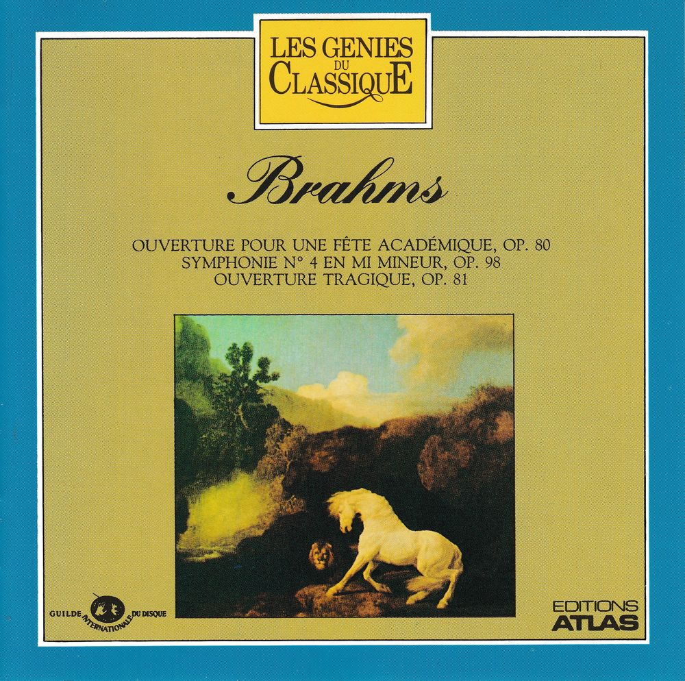 CD   Brahms   Ouverture Pour Fête Académique, Symphonie No.4 4 Antony (92)