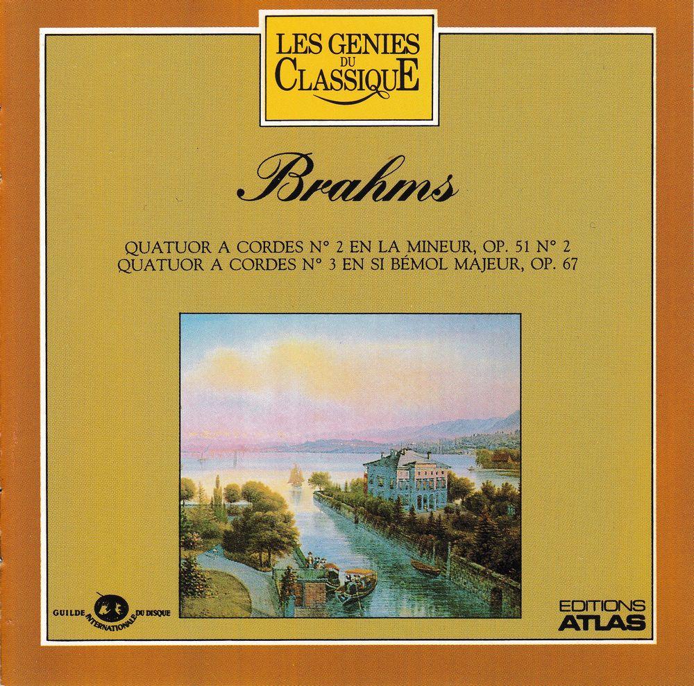 CD Brahms Quatuor À Cordes N°2, Quatuor Cordes N°3,  Janá?ek 4 Bagnolet (93)