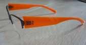 branches de lunettes monture dilem orange vitamine ZG025 10 Bonnelles (78)