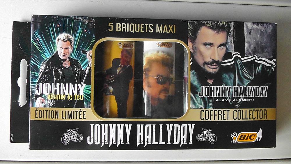 """Briquets Johnny Hallyday: COFFRET """"COLLECTOR"""""""