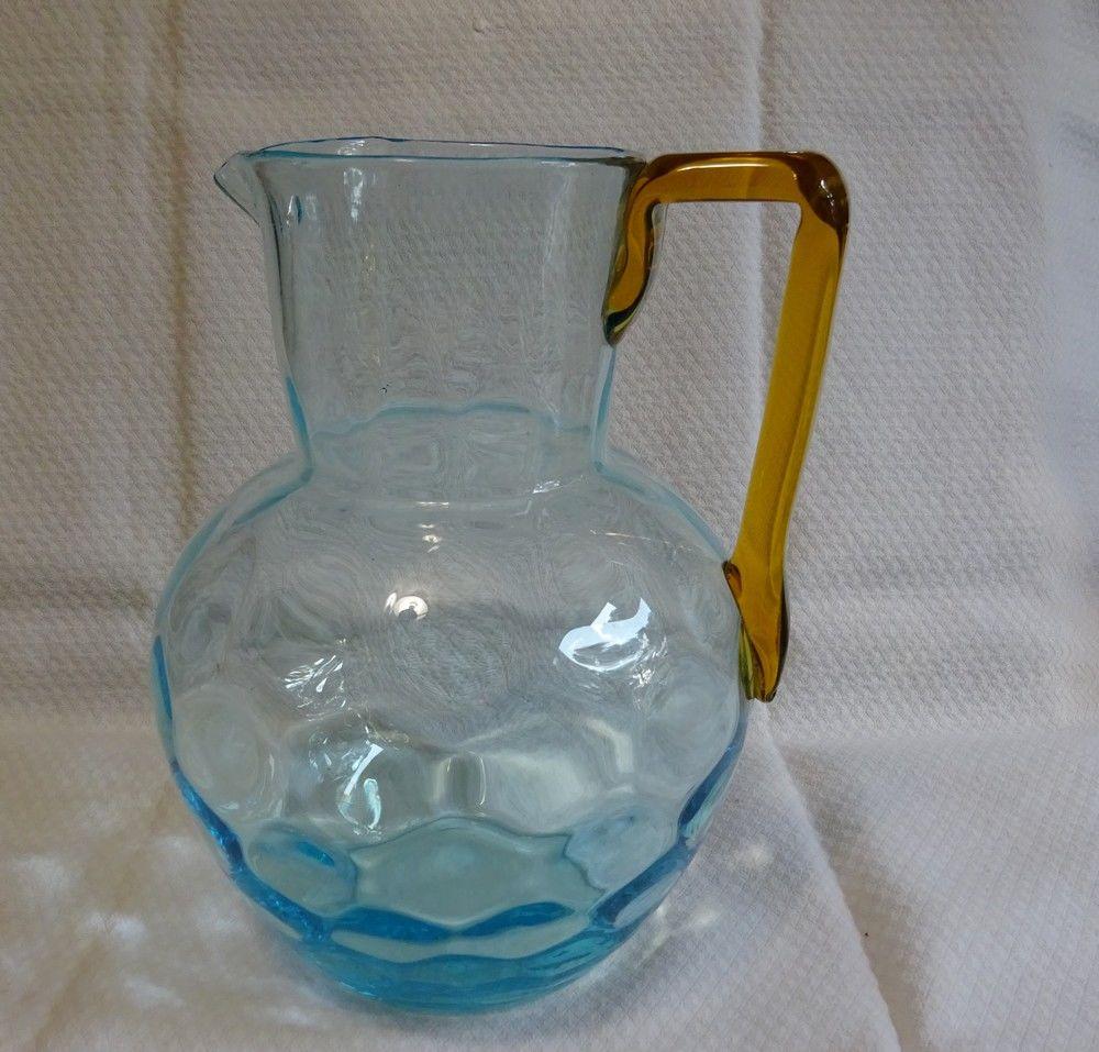 Broc pichet verre soufflé XIXe Georges Sand 59 Mondragon (84)