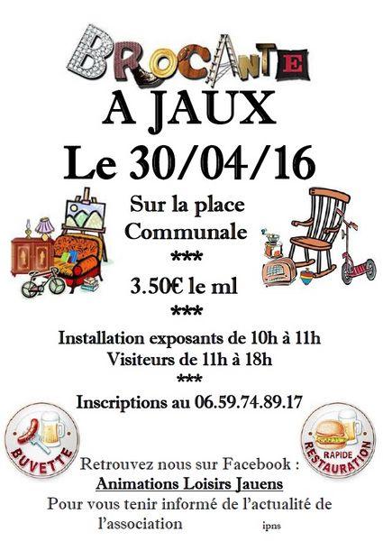 Brocante de Printemps 30/04/16 JAUX 0 Jaux (60)