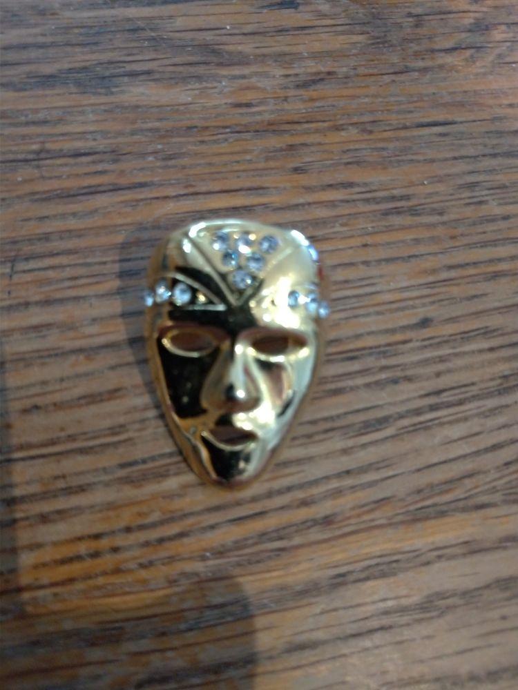 Broche dorée masque vénitien, strass. 10 Épinay-sur-Orge (91)