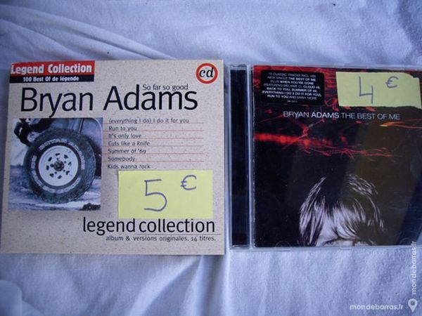 CD de Bryan ADAMS, BON JOVI et Barry WHITE 3 Bouxwiller (67)