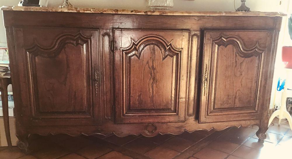 Buffet ancien chêne 3 portes dessus marbre  0 Ploemeur (56)