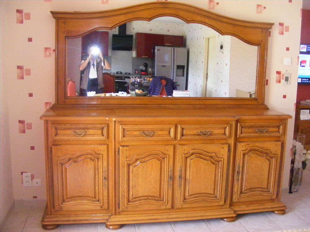 Buffet avec miroir en chêne massif 500 Saint-Pompont (24)