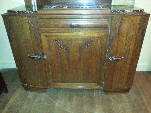 vente buffet 1930 dessus marbre. Black Bedroom Furniture Sets. Home Design Ideas