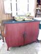 Buffet galbé 2 portes rouge et noir