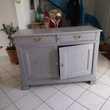 Buffet merisier relooke gris Saint-Briac-sur-Mer (35)