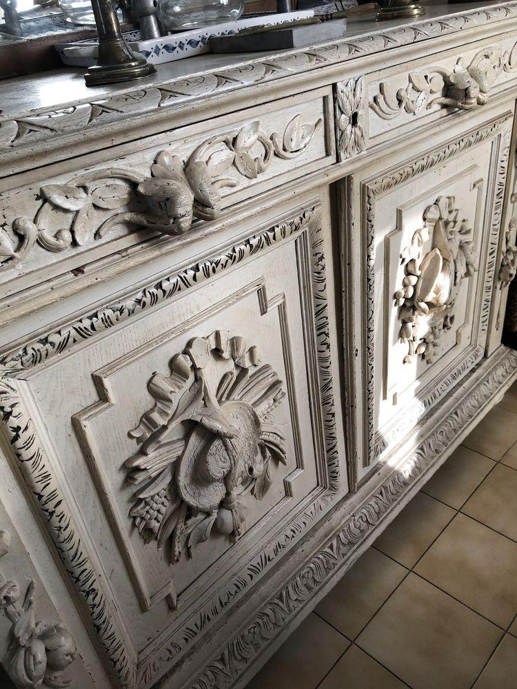 buffet bas sculpté blanc  250 Pérols (34)