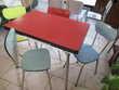 buffet tables chaises et tabourets en formica vintage