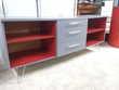Buffet bas 3 tiroirs gris et rouge 80 Toulouse (31)