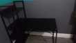 Bureau d'angle avec étagères / Support Verre trempé Meubles