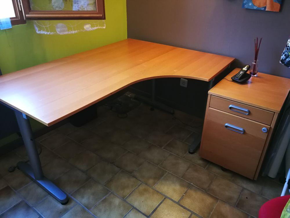 Bureau d angle à droite avec caisson à tiroirs et chaise 150 Brignais (69)