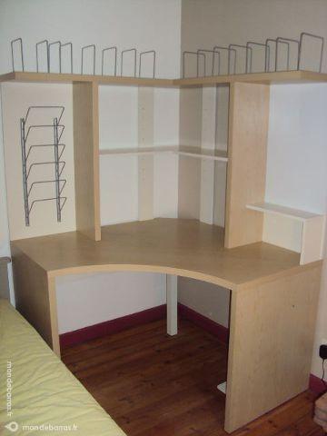 Achetez bureau d 39 angle ikea occasion annonce vente for Meuble d angle bureau ikea