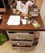 Bureau d'atelier, en métal, bois vintage des années 60 Meubles